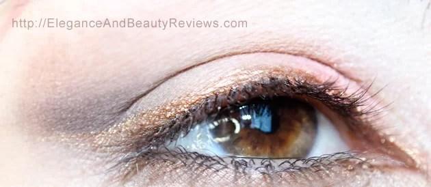 My eye wearing the LORAC PRO Metallic Cream Eyeliner