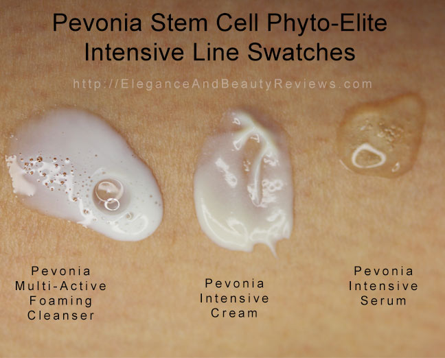 Pevonia Stem Cell Phyto-Elite  Intensive Line Swatches