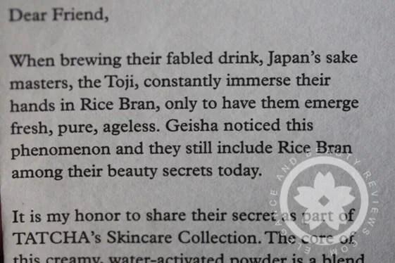 tatcha geisha story