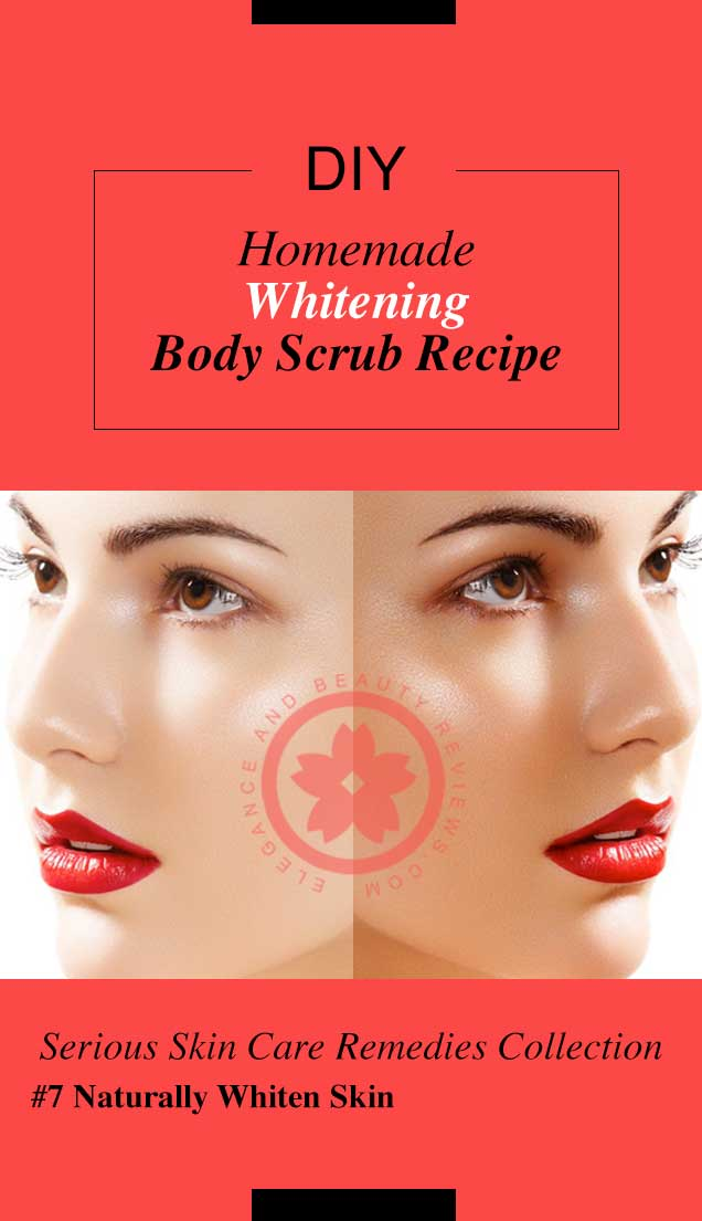 Homemade Whitening Body Scrub Recipe
