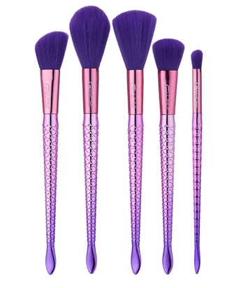 purple makeup brushes unicorn
