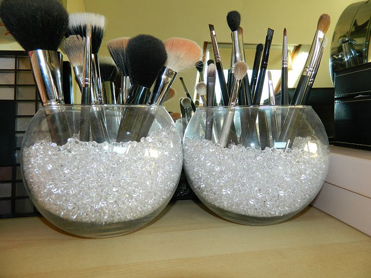 fishbowl makeup brush holder