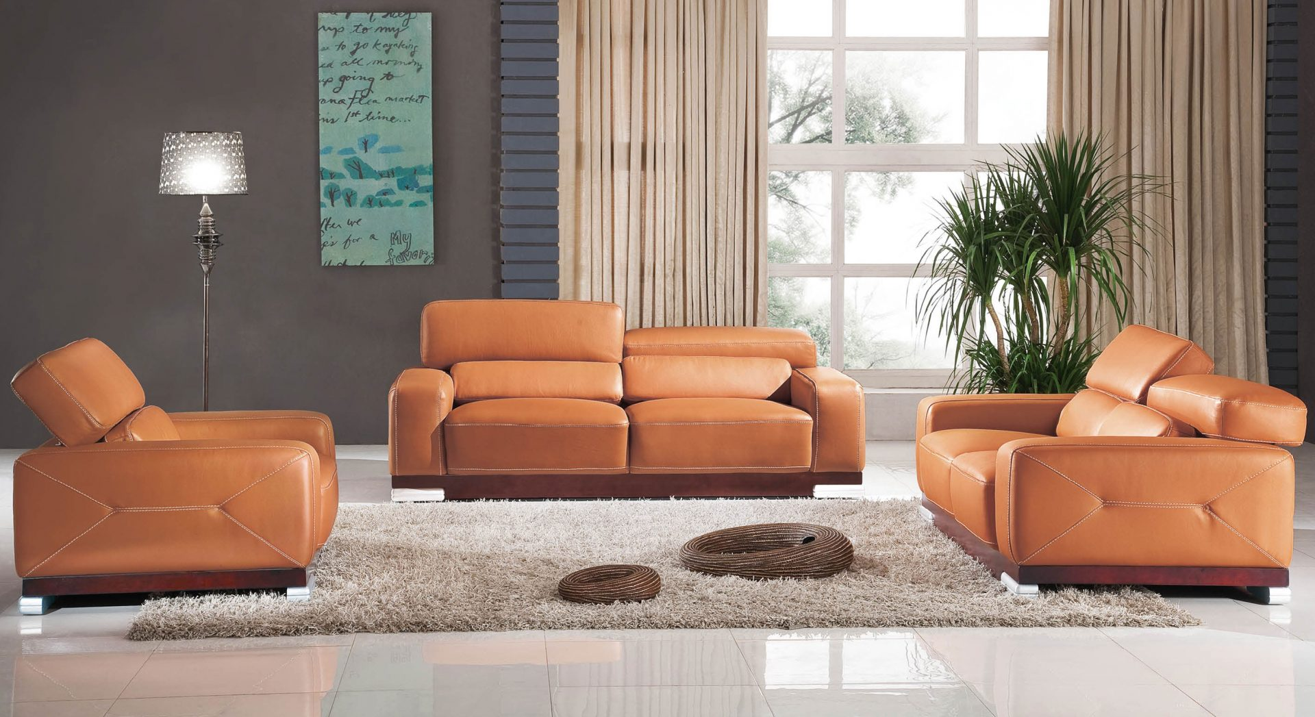 3 piece living room table set best pictures in india modern leather elegance decor
