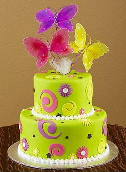 Elegant Cakery Butterfly Birthday Cake