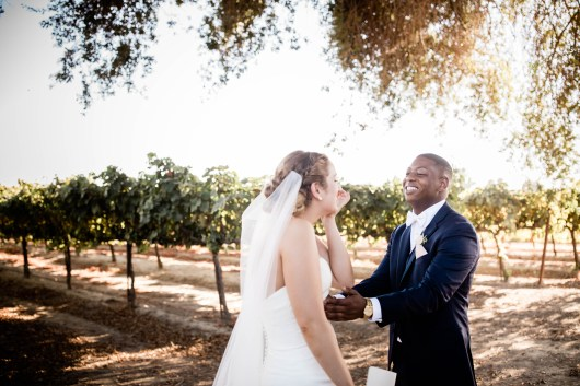 during Angela Brouqua & Kyle Hampton at Scribner Bend Vineyards Wedding in Sacramento, CA on September 21, 2018. Photography: Polina Vayner @ Laika Studio Photography
