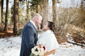 during Nick and Rose MCisaac wedding at Lake Tahoe Resort Hotel in South Lake Tahoe, CA on January 19, 2019. Photography: Polina Vayner @ Laika Studio Photography