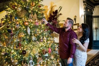 Holiday engagement photos