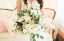 Beautiful neutral wedding bouquet