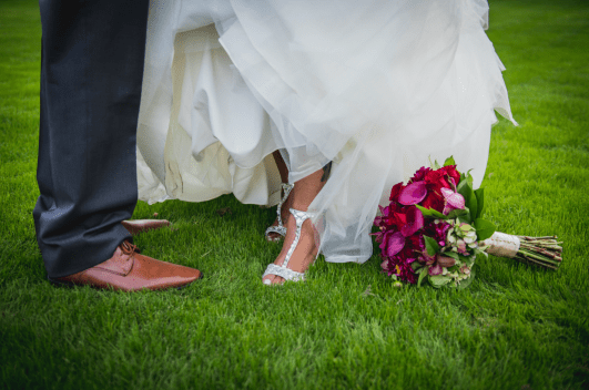 Bride and groom shoes /Elegant Events Media