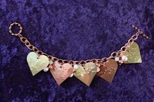 Conversation Hearts bracelet