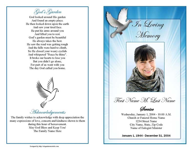 funeral obituary templates