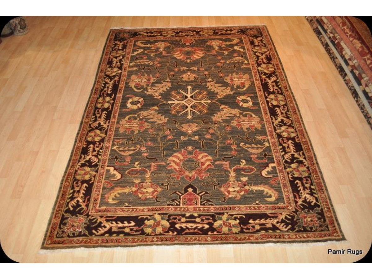 Hall Green Oriental Rugs Elegant High End Persian Rug 6 39; X 9 39; With Dark Green Olive