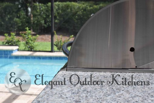 Built-In Barbecue Grill Side Profile - Elegant Outdoor Kitchens