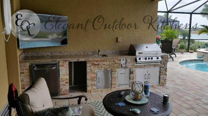 Custom Outdoor Kitchen Construction Corkscrew Shores