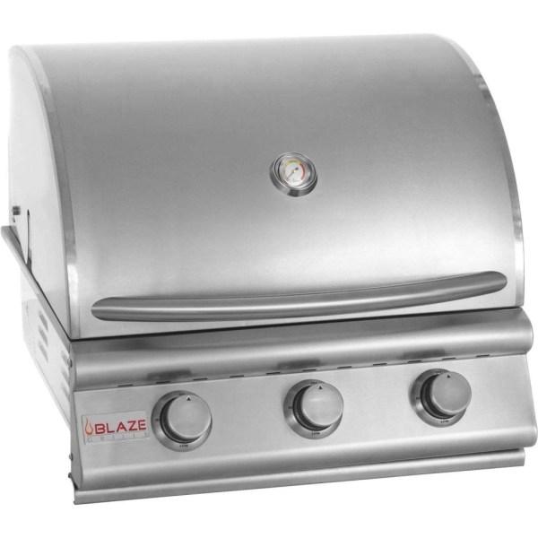 Blaze 25 Inch 3-Burner Built-In Barbecue Grill