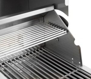 Blaze 32 Inch 4-Burner Grill With Rear Burner - Warmer Rack Close-Up