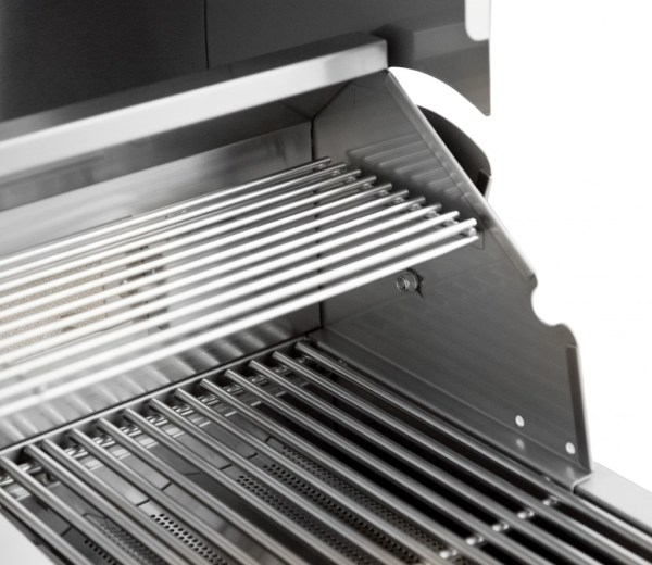 Blaze 32 Inch 4-Burner Grill With Rear Burner - Warmer Rack Close-Up