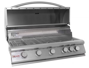 Blaze 40 Inch 5-Burner Gas Grill With Rear Burner - Open Grill Head