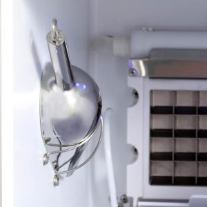 Blaze 50 LB. 15 Inch Outdoor Ice Maker with Gravity Drain - Ice Scooper