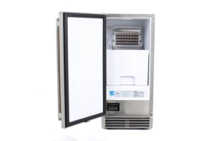 Blaze 50 LB. 15 Inch Outdoor Ice Maker with Gravity Drain - Open Ice Maker