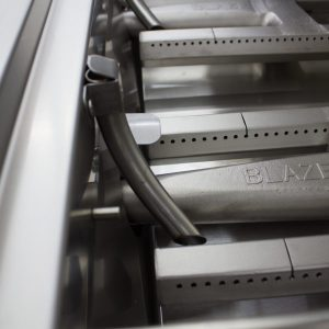 Blaze Professional 27-Inch 2 Burner Built-In Gas Grill - Interior Burner Close-Up