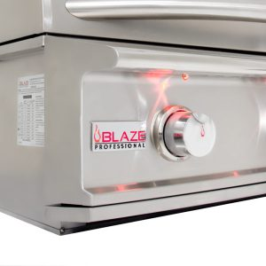 Blaze Professional 27-Inch 2 Burner Built-In Gas Grill With Rear Infrared Burner - Details Close-Up