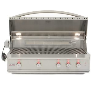 Blaze Professional 44-Inch 4 Burner Built-In Gas Grill With Rear Infrared Burner - Open Grill Head