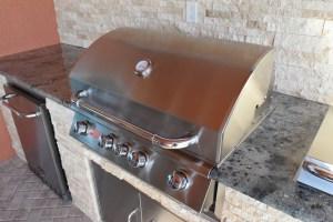 Custom BBQ Island Finishing By Elegant Outdoor Kitchens