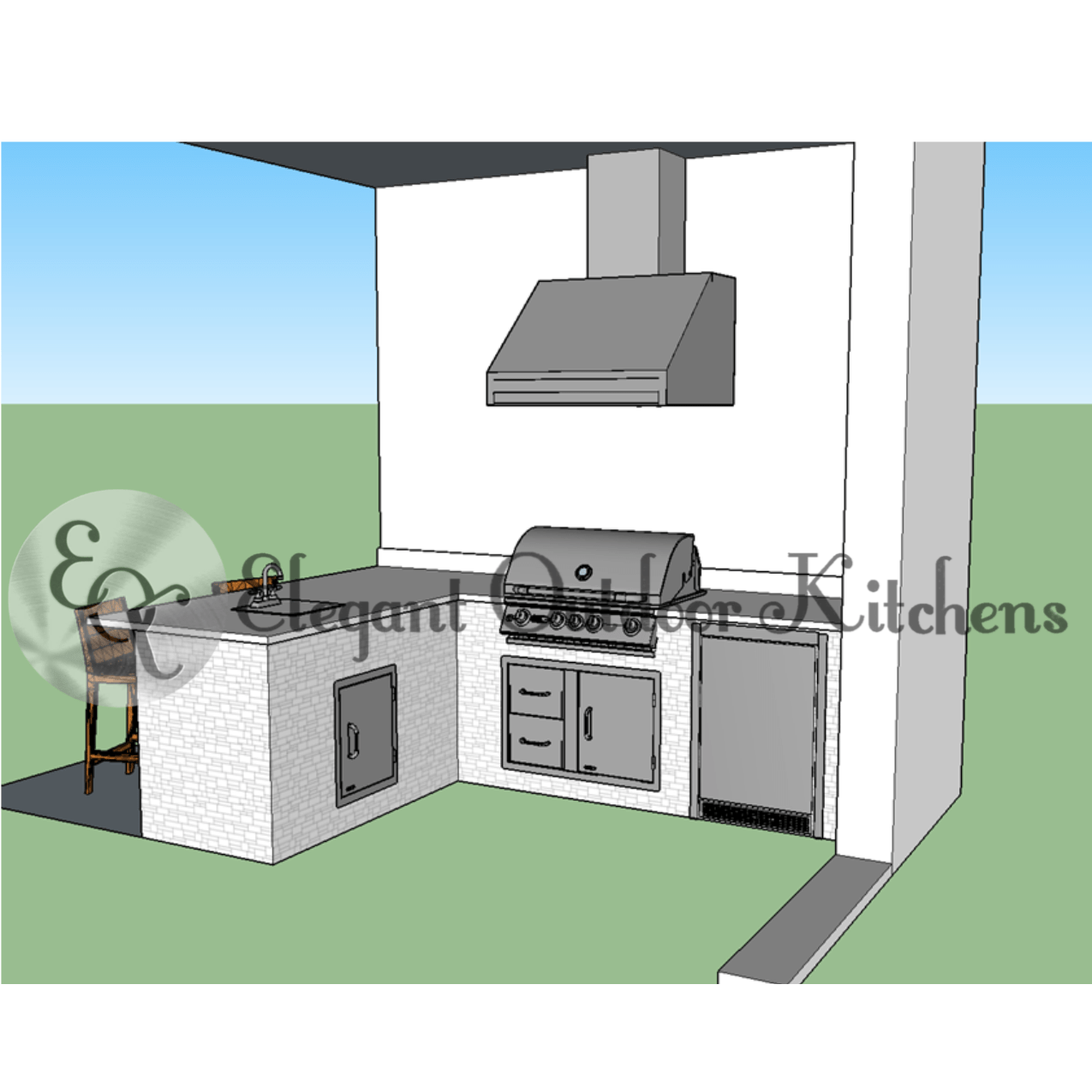 Custom Outdoor Kitchen Construction Of Fort Myers Florida Elegant Outdoor Kitchens