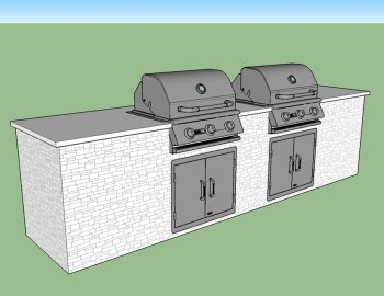 Dueling Grills Outdoor Kitchen Build - Elegant Outdoor Kitchens - Estero