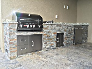 Summer Kitchen - Corkscrew Shores in Estero Grill Shown w/ Custom Straight Frame