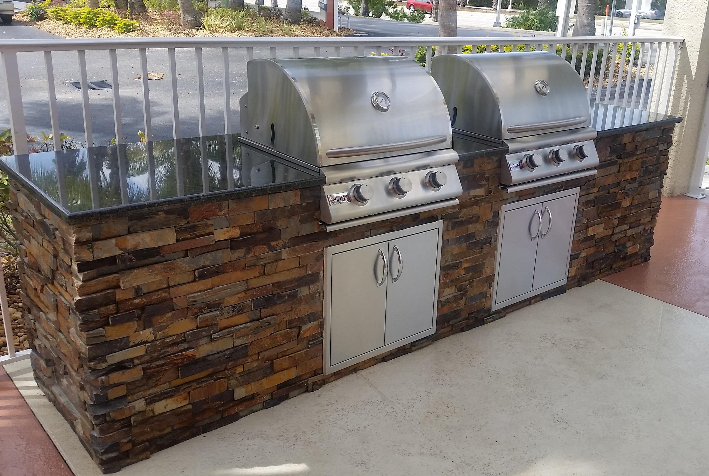 custom outdoor kitchens delta motion sensor kitchen faucet quotdueling grills quot build elegant