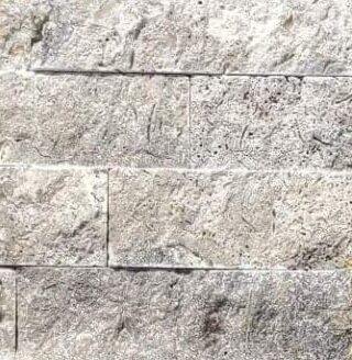 Silver Travertine - Stacked Stone Sample