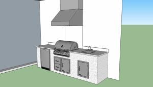 Elegant Outdoor Kitchens - Custom CAD Drawing