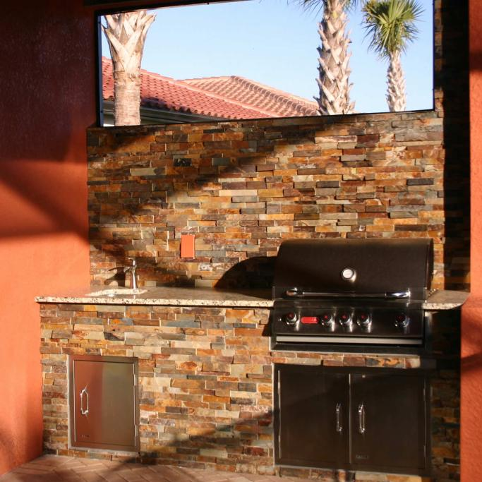 Elegant Outdoor Kitchens - Custom Barbecue Island Design