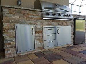Elegant Outdoor Kitchens - Custom Barbecue Island Design & Construction Services - Southwest Florida