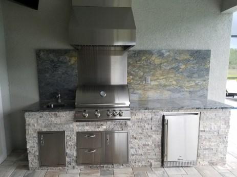Arabescatus Oro Custom Outdoor Kitchen