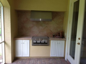 Before Image of Existing Outdoor Barbecue Island