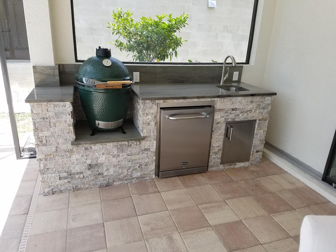 custom outdoor kitchens wood kitchen set the big green egg elegant