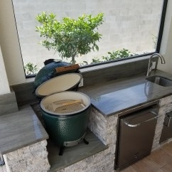Stacked Stone Outdoor Kitchen Planner Tool The Big Green Egg Elegant Kitchens