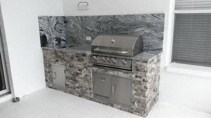 Finished Outdoor Kitchen Remodel in Punta Gorda, Florida - Elegant Outdoor Kitchens of Southwest Florida