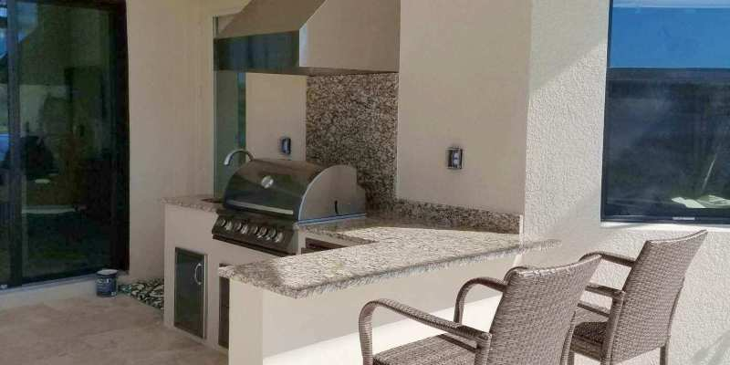 Paseo Custom Barbecue Island