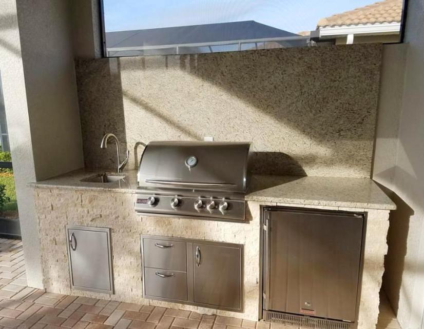 Materita - Pelican Preserve WCI Community Home Completed Outdoor Kitchen
