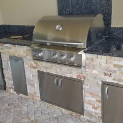 Stacked Stone Outdoor Kitchen Small Carts The Classically Beautiful Style Eok
