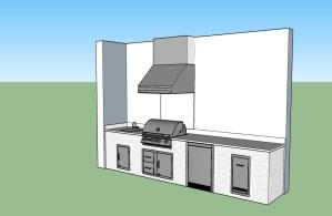 Custom Outdoor Kitchen CAD 3D Design