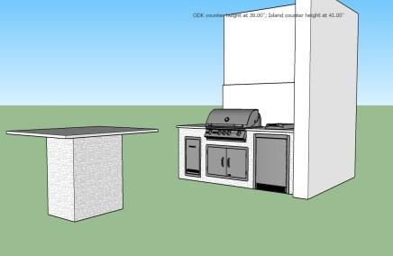 Delirium Granite & Silver Travertine Outdoor Kitchen Design