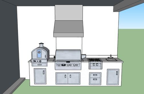 3D CAD Design Drawing Front