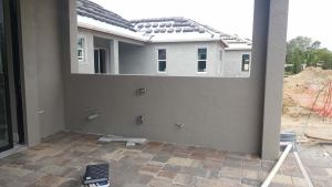 Before the Elegant Outdoor Kitchen Construction Was Started