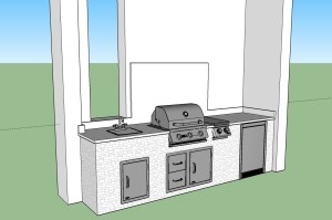 Custom 3D Rendering of a Client of Elegant Outdoor Kitchens of Fort Myers, Florida