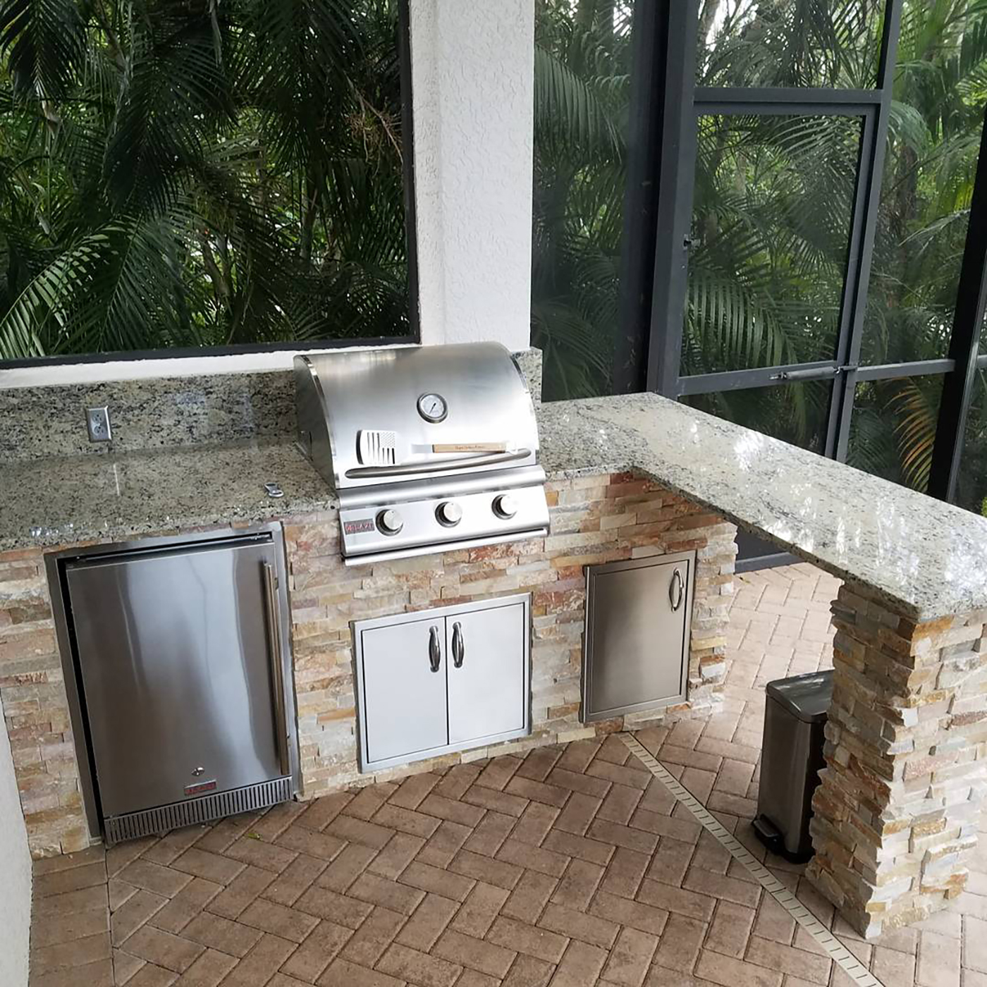 custom outdoor kitchens diy kitchen pull out shelves naples fl review home co